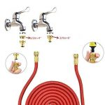 uvistar Tuyau d'arrosage Tuyau d'eau flexible tuyau d'arrosage multifonction tête 7,5m 22M noir de la marque Uvistar image 2 produit