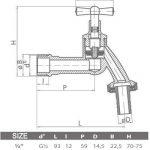 """valve en laiton du robinet de jardin 3/4 """" de la marque plumbing4home image 1 produit"""
