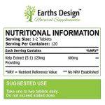Varech - 600mg Varech Marin - Source d'Iode Riche en Vitamines & Minéraux - Sea Kelp - Complément à Dosage Maximum pour Hommes et Femmes - Convient aux Végétariens - 120 Comprimés (4 Mois de Stock) de Earths Design de la marque Earths Design image 1 produit