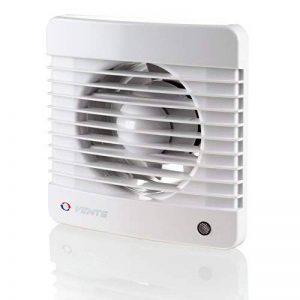 Évents 100125070Mth K 100mm silencieux d'une salle de bain ventilateur d'extraction d'air avec détecteur d'humidité Minuteur–Blanc brillant de la marque Vents image 0 produit