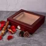 Volenx Cave à cigares avec hygromètre Peut contenir 15–20cigares Marron de la marque Volenx image 1 produit