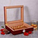 Volenx Cave à cigares avec hygromètre Peut contenir 15–20cigares Marron de la marque Volenx image 2 produit