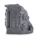 Waldbeck Timer Rock Prise de jardin • 1,5 m de câble Programmateur • Répartiteur à 2 prises protégées • Etanche et résistant aux intempéries d'après IP44 16 A / 250 V ~ • Pierre artificielle de belle forme en polyrésine d'optique granite • Gris foncé de l image 4 produit