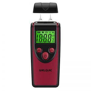 WELQUIC MT230 Détecteur d'Humidité Numérique Bois Portable Humidimètre avec Affichage Digital LCD Testeur Humidité de la Température Du Matériau de Construction en Bois,Murs,Chape,Béton de la marque WELQUIC image 0 produit