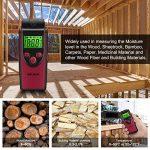 WELQUIC MT230 Détecteur d'Humidité Numérique Bois Portable Humidimètre avec Affichage Digital LCD Testeur Humidité de la Température Du Matériau de Construction en Bois,Murs,Chape,Béton de la marque WELQUIC image 4 produit