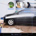 WEUE Magic Water Tuyau d'arrosage Extensible Rétractable pour Jardin et Terrasse – Parfait pour laver sa voiture, Nettoyer, Arroser Plantes, Pelouses – Robuste et solide avec Pistolet à Haute pression+ soupape de sécurité (15 m) de la marque image 4 produit