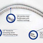 Xcel, 2x 10mm x 1/2BSP (300mm de long) de cuisine/lavabo monobloc Mitigeur connecteur Flexi tuyaux Tails–FBA de la marque EVG image 3 produit