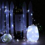 XGUO 3 In 1 3*100 LED 3*10 Mètres Fil de Sliver Cuivre 3*10M Fil de Lumières étoilées 100LED Lumière de Corde avec DC port Adapteur Alimentation(Blanc) de la marque XGUO image 2 produit