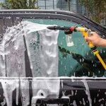 Yida Pistolet à mousse pour voiture avec gant de lavage double face 2en 1Buse de pulvérisation manuelle Canon à mousse Pulvérisateur Buse de nettoyage pour tuyau d'arrosage de la marque Yi Da image 3 produit