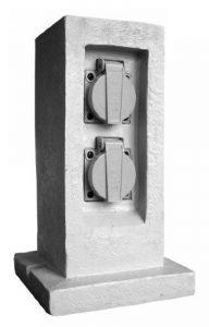 Zenitech - Borne Jardin 2 Prises 16A 2 P+T Étanche IP44 sans Programmateur + Câble H07RN-F 3G1.5mm² - LG 5m - Matière Résine de la marque Zenitech image 0 produit