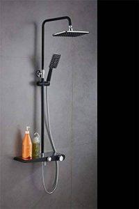 ZYJY Badezimmer zu Hause zyjy Douche Charge Europa Arroseur Arroseur Combinaison d'eau froide, chaude Cuivre Noir mobile Lift Bad Thermostat, un de la marque ZYJY Badezimmer zu Hause image 0 produit